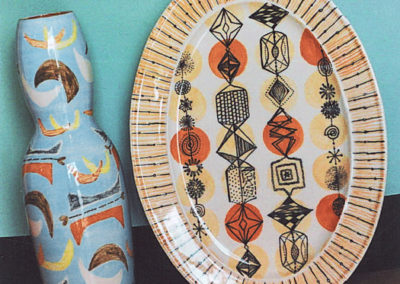 Ethnic vase and platter